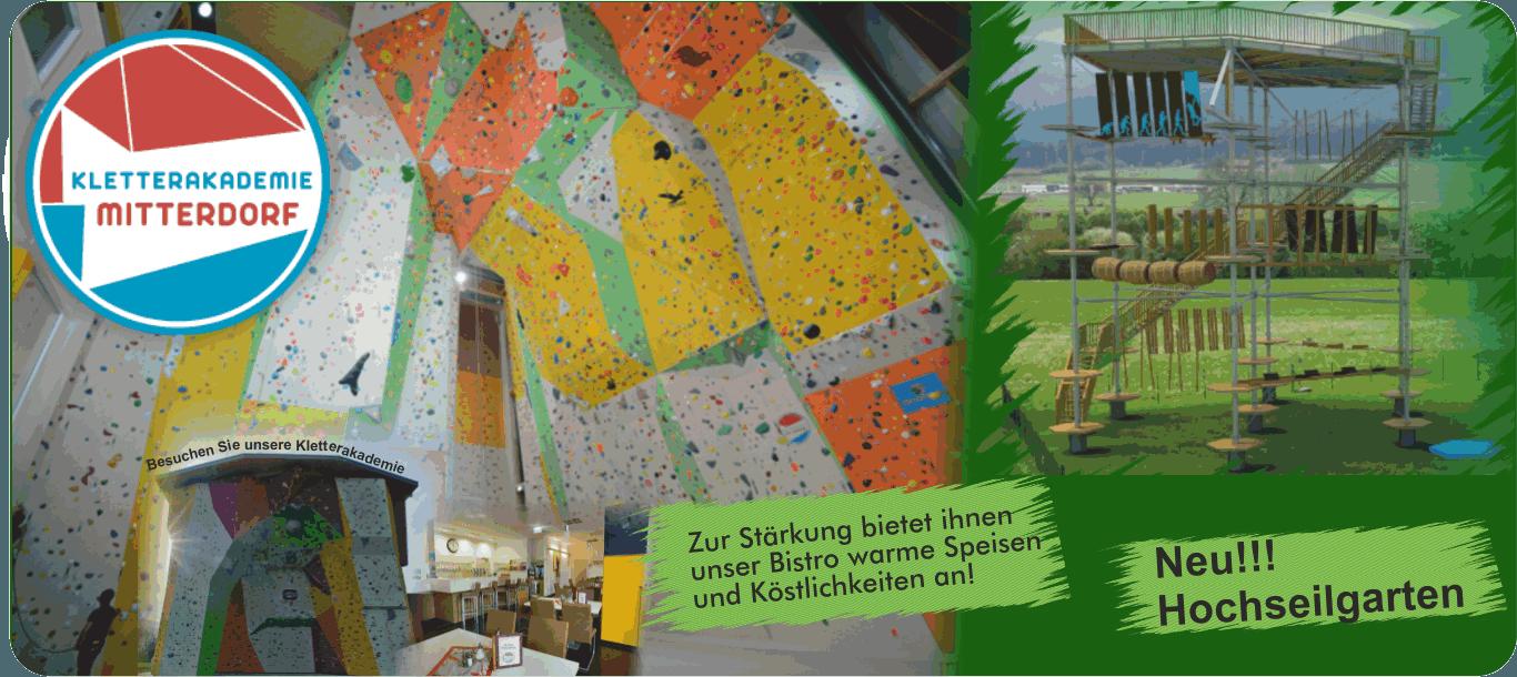 Ausflugsziele in der Hochsteiermark Essen, Trinken, Klettern