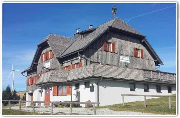 Das Roseggerhaus auf der Pretulalpe